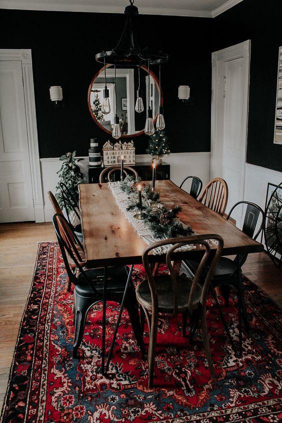 Vintage διακόσμηση στο σπίτι: vintage τραπεζαρία στο σαλόνι