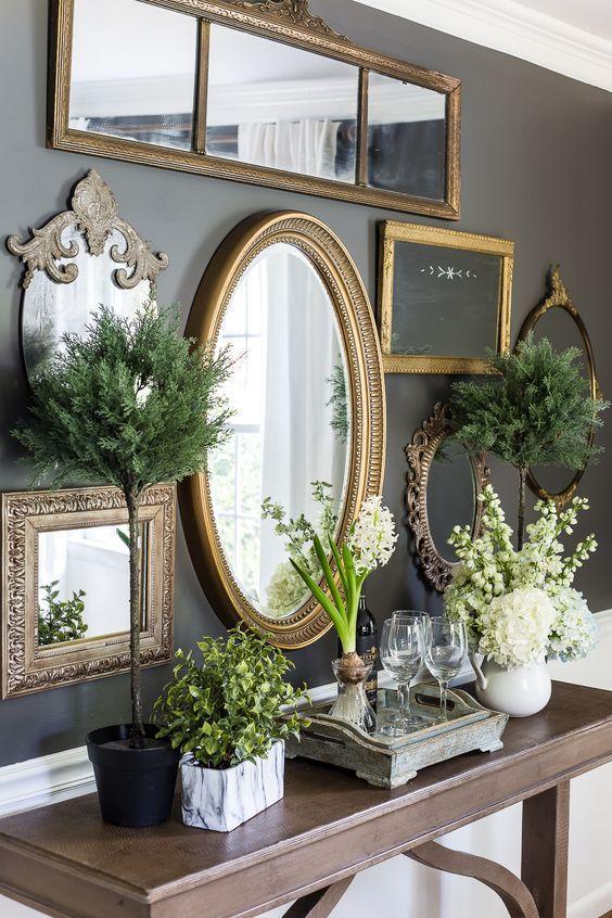 Vintage διακόσμηση στο σπίτι: vintage στρογγυλό καθρέφτης