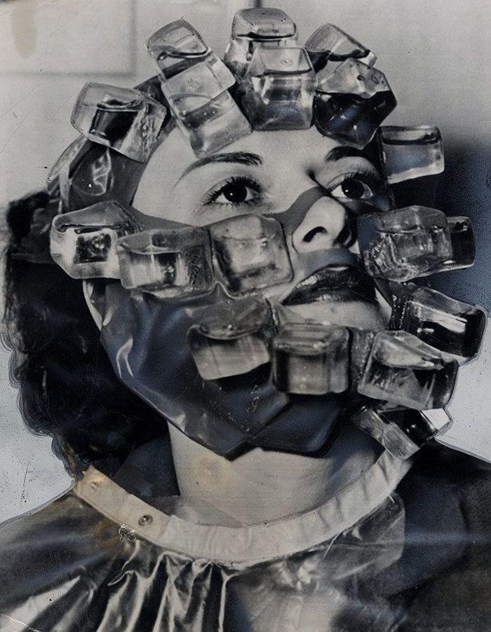 """30 Αδιανόητα πράγματα που οι γυναίκες έκαναν στο παρελθόν για να δείχνουν """"όμορφες"""" Μάσκα της Max Factor το 1931 φτιαγμένη από...παγάκια!"""