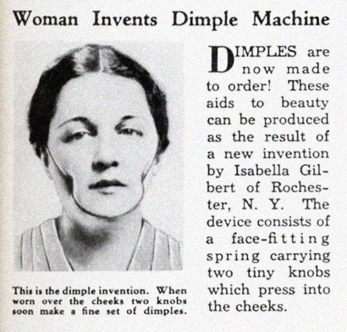 """30 Αδιανόητα πράγματα που οι γυναίκες έκαναν στο παρελθόν για να δείχνουν """"όμορφες"""" : Το 1936 φορούσαν τέτοιες μάσκες για να αποκτήσουν...γωνίες στο πρόσωπο. Ίσως."""
