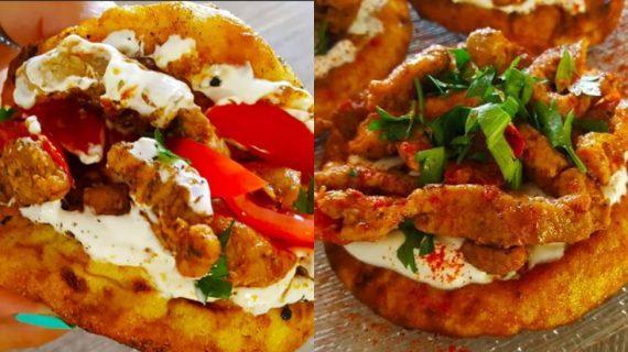 Μίνι λαχταριστά ζουμερά πιτόγυρα με χοίρινο σνίτσελ