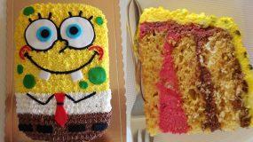 """Υπέροχη τούρτα γενεθλίων """"Μπομπ Σφουγγαράκης"""""""