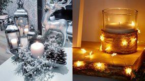 Υπέροχες ιδέες για Χριστουγεννιάτικα κηροπήγια για τα Χριστούγεννα 2020