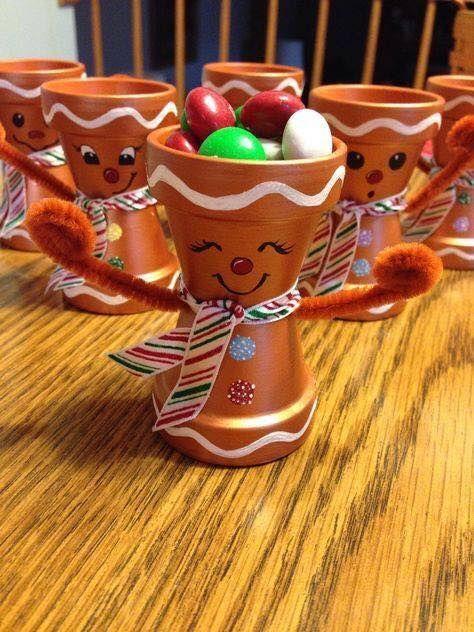 Χριστουγεννιάτικες κατασκευές με πήλινες γλάστρες: χριστουγεννιάτικα πήλινες γλάστρες Ρούντολφ για το σπίτι