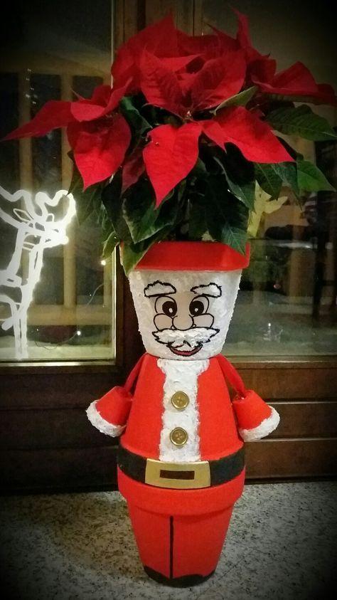 Χριστουγεννιάτικες κατασκευές με πήλινες γλάστρες: Χριστουγεννιάτικο διακοσμητικό χώρου με λουλούδια