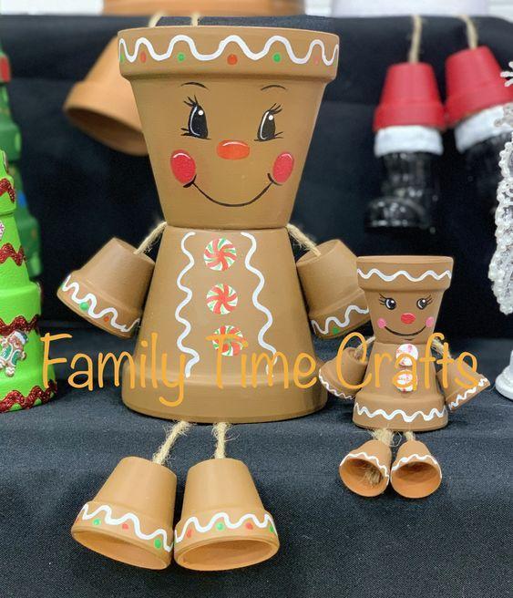 Χριστουγεννιάτικες κατασκευές με πήλινες γλάστρες: Χριστουγεννιάτικα ξωτικά φτιαγμένα με πήλινες γλάστρες