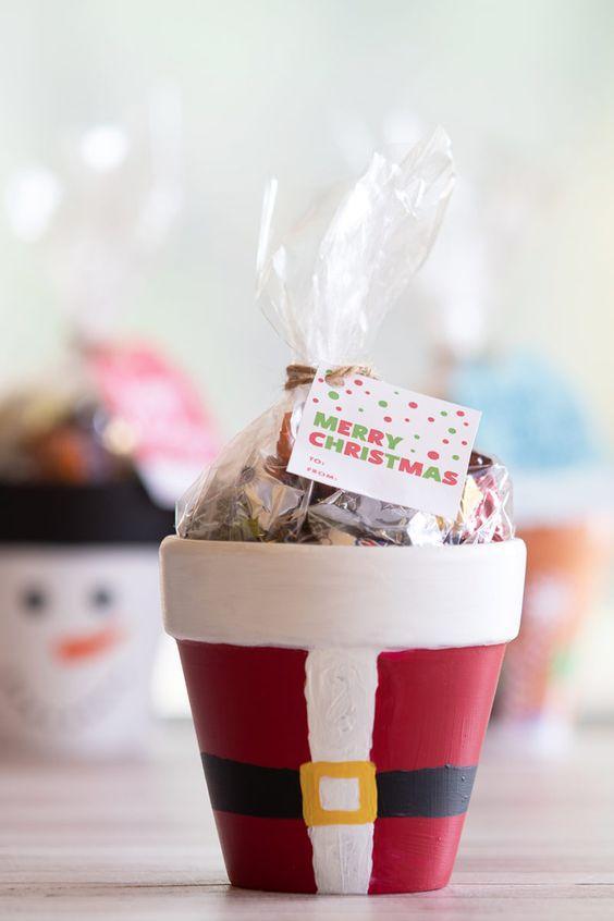 Χριστουγεννιάτικες κατασκευές με πήλινες γλάστρες: Χριστουγεννιάτικες κατασκευές για δώρο