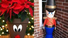 15 υπέροχες χριστουγεννιάτικες κατασκευές με πήλινες γλάστρες