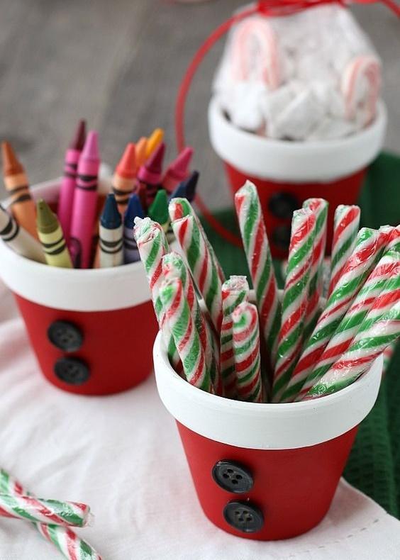 Χριστουγεννιάτικες κατασκευές με πήλινες γλάστρες: Χριστουγεννιάτικες μολυβοθήκες