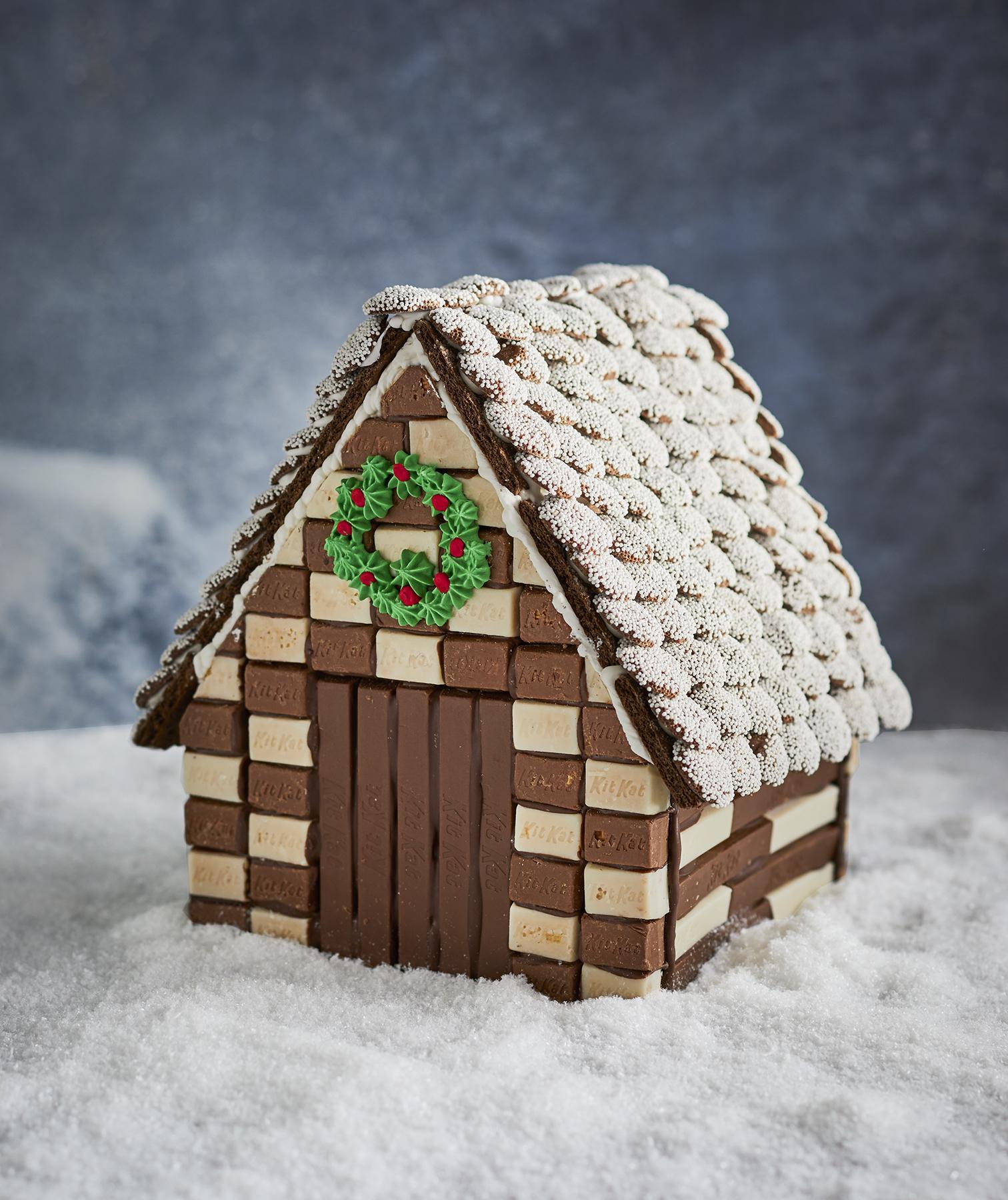 σοκολατένια σπιτάκια Χριστουγέννων