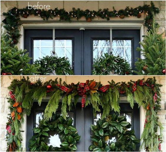 Χριστουγεννιάτικες γιρλάντες με φύλλα δέντρου