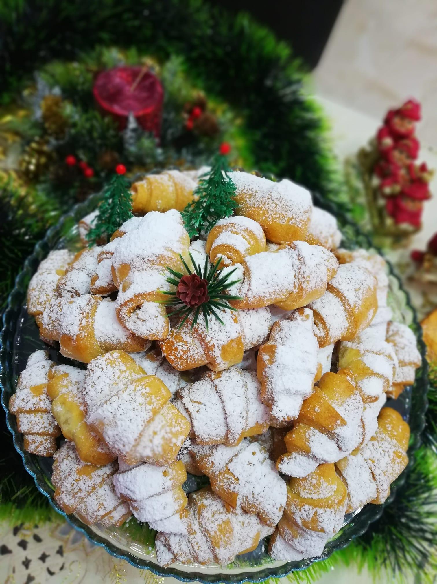 Κρουασάν γεμιστά με λουκούμι - Χριστουγεννιάτικη συνταγή
