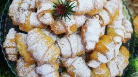 Χριστουγεννιάτικα κρουασάν γεμιστά με λουκούμι