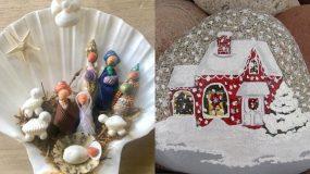 Χριστουγεννιάτικες κατασκευές: Ιδέες για χριστουγεννιάτικα διακοσμητικά από βότσαλα & κοχύλια