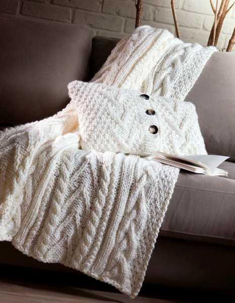 15 μοντέρνες ιδέες διακόσμησης με πλεχτά: Πλεκτά καλύμματα για τον καναπέ και πλεκτές μαξιλαροθήκες για τον καναπέ