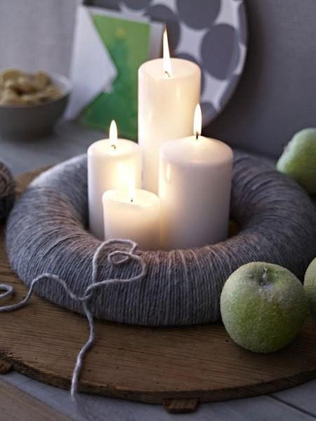 15 μοντέρνες ιδέες διακόσμησης με πλεχτά: Πλεκτή θήκη για τα κεριά