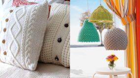 15 μοντέρνες ιδέες διακόσμησης με πλεχτά για το σπίτι