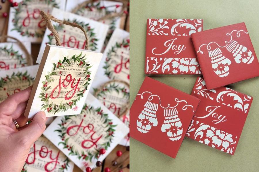 Ιδέες για χριστουγεννιάτικα diy κεραμικά & χάρτινα σουβέρ