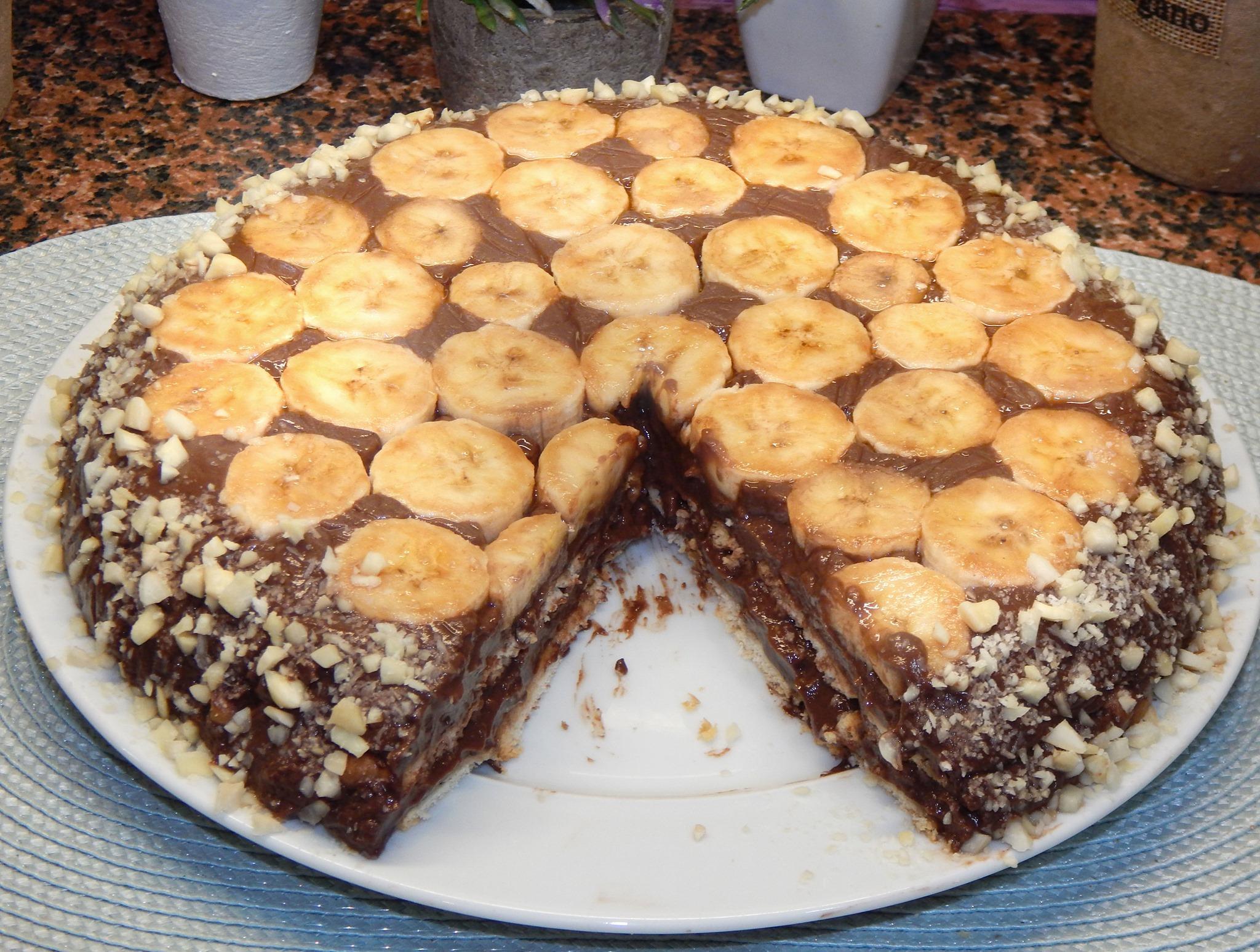 Σοκολατένιο μπισκοτόγλυκο με μπανάνες συνταγή