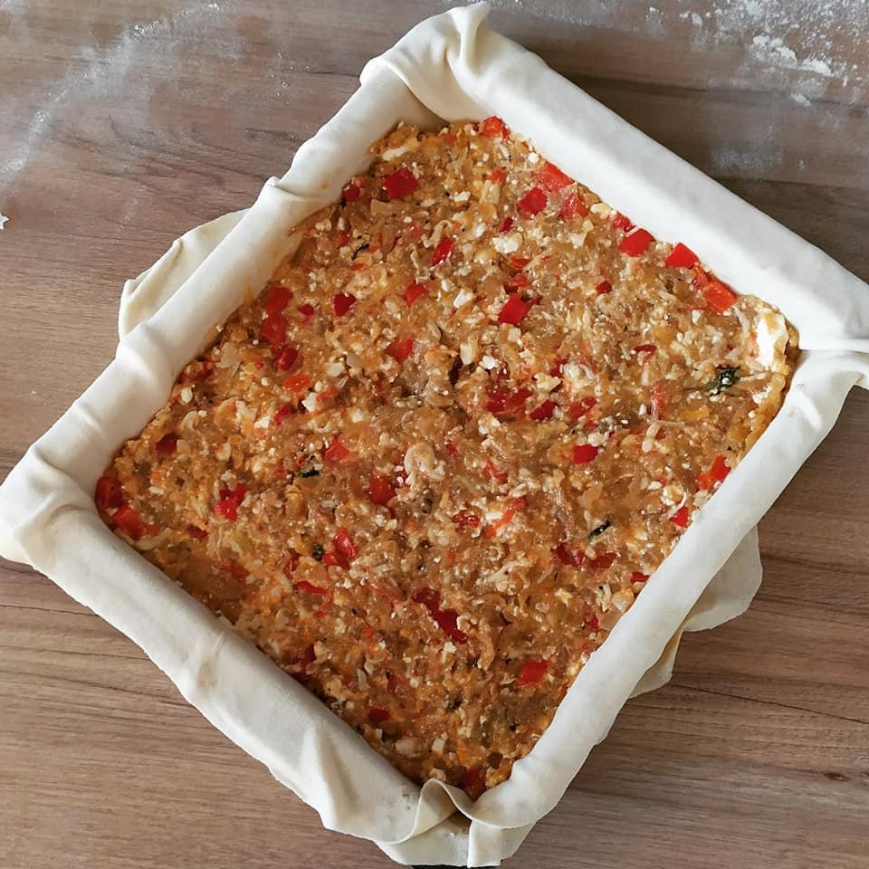 μελιτζανόπιτα συνταγή - γέμιση