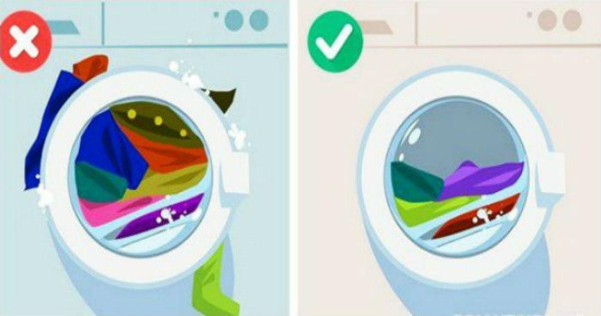 υπερφορτωμένος κάδος πλυντηρίου
