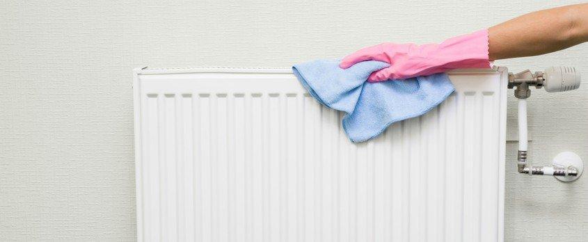 clean tip για να καθαρίσουμε το καλοριφέρ με πανάκι μικροϊνών