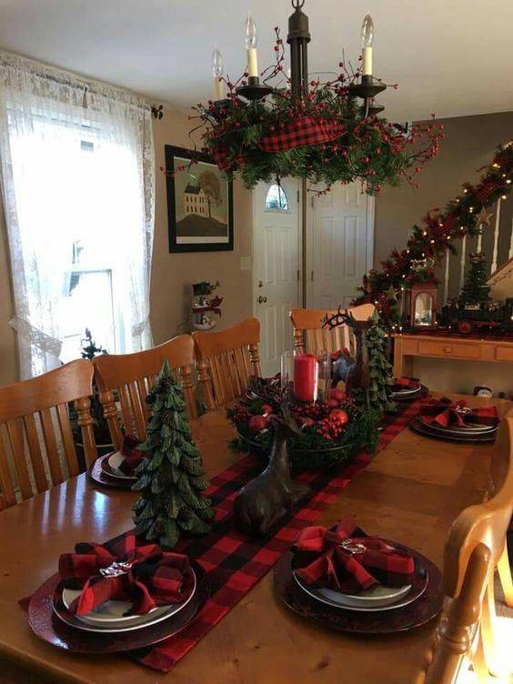 χριστουγεννιάτικη διακόσμηση: Σχέδια με καρό χαρτοπετσέτες ή πετσέτες