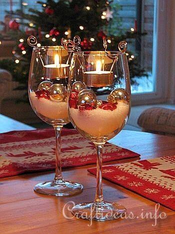 χριστουγεννιάτικη διακόσμηση: Κολονάτα ποτήρια με χοντρό αλάτι και ρεσό