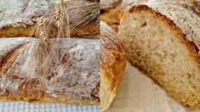 Συνταγή για χωριάτικο τραγανό ψωμί φωτο