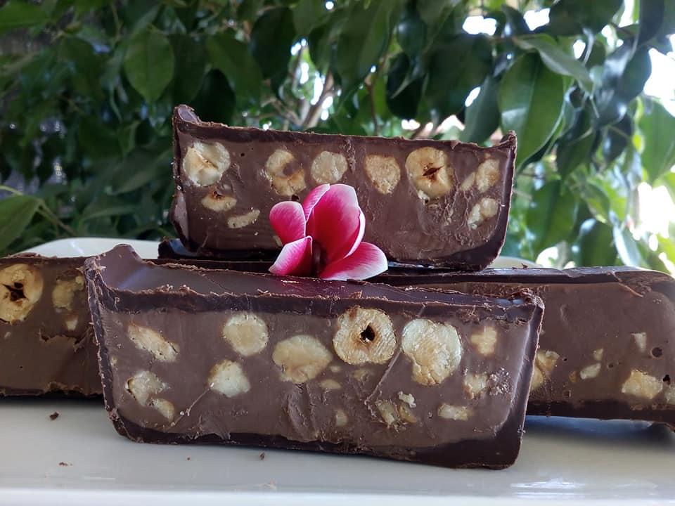 Torrone : Γλυκό ψυγείου με σοκολάτα & φουντούκια