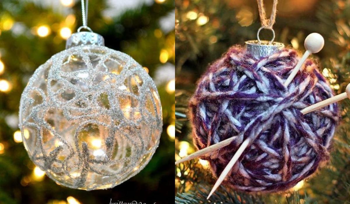 Χριστουγεννιάτικες μπάλες: 15 ιδέες για την diy διακόσμηση των στολιδιών