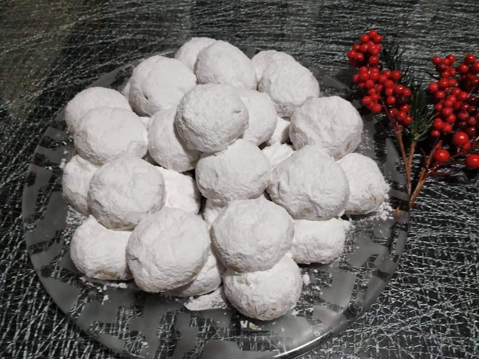 Κουραμπιέδες με αμύγδαλα & κράνμπερι συνταγή