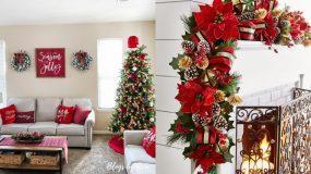Ιδέες Χριστουγεννιάτικης διακόσμησης με πράσινο και κόκκινο χρώμα