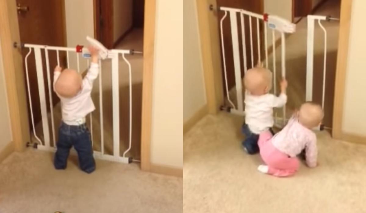Ξεκαρδιστικό βίντεο με μωρά:  Δίδυμα σχεδίασαν την τέλεια απόδραση