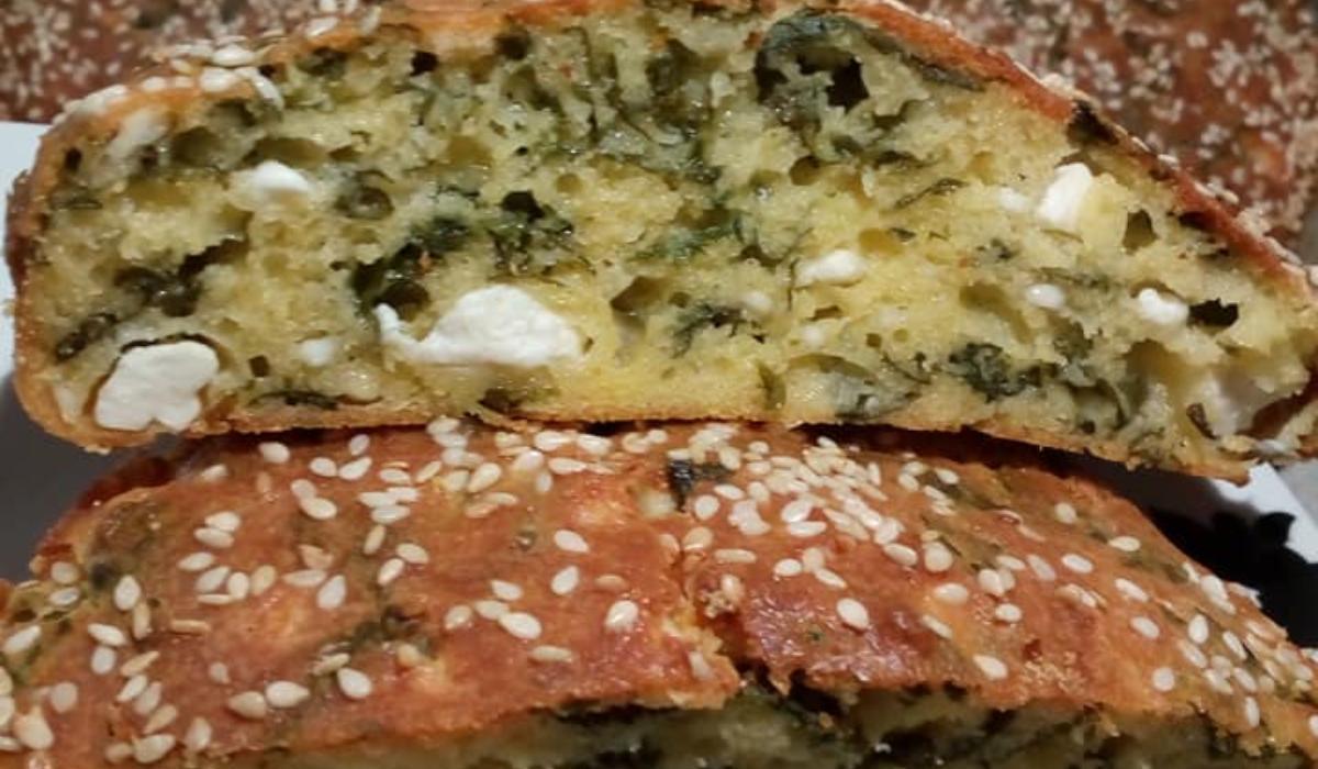 Συνταγή για κέικ αλμυρό με σπανάκι και φέτα