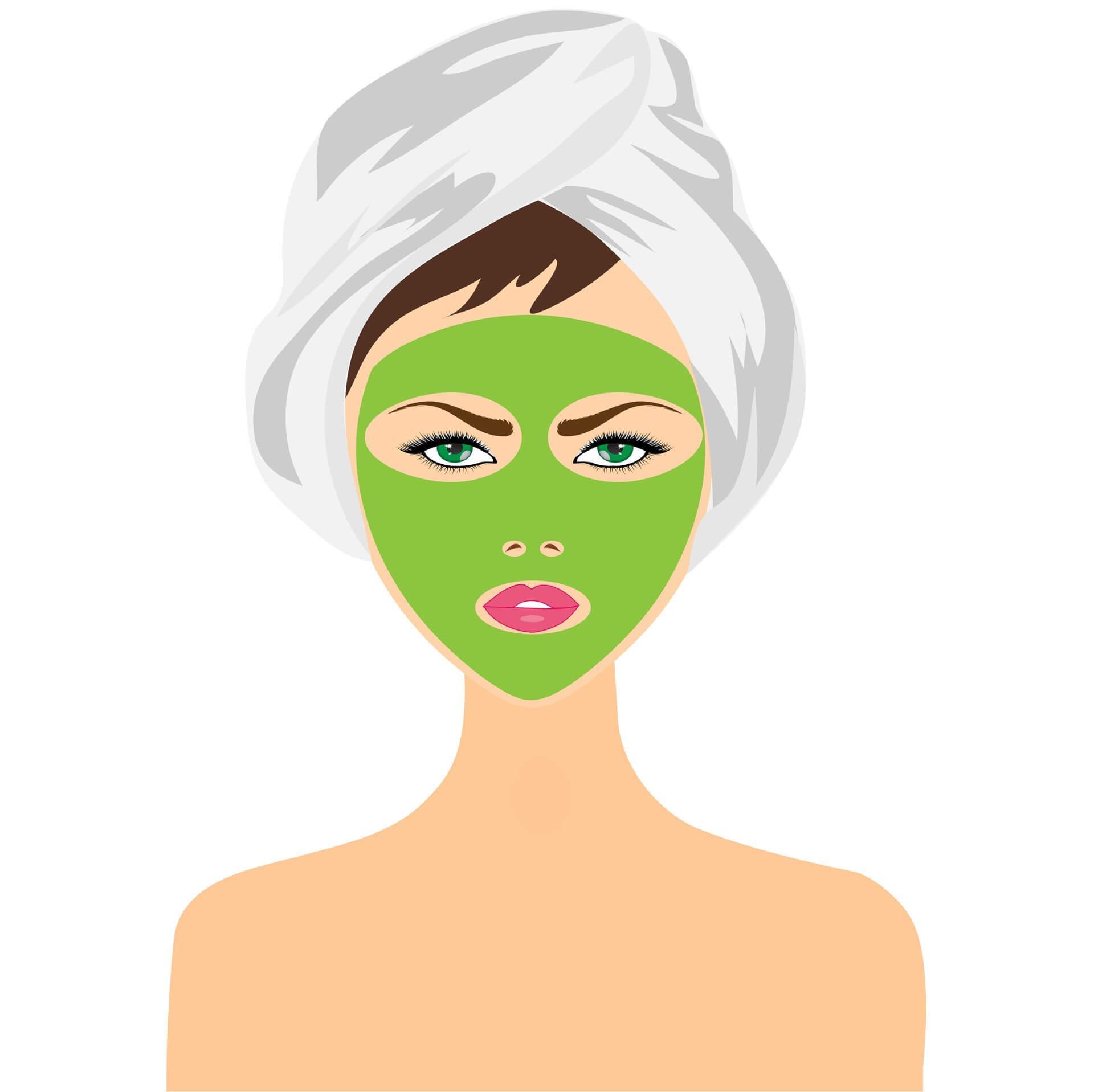 μάσκα προσώπου όσο κάνουμε μπάνιο