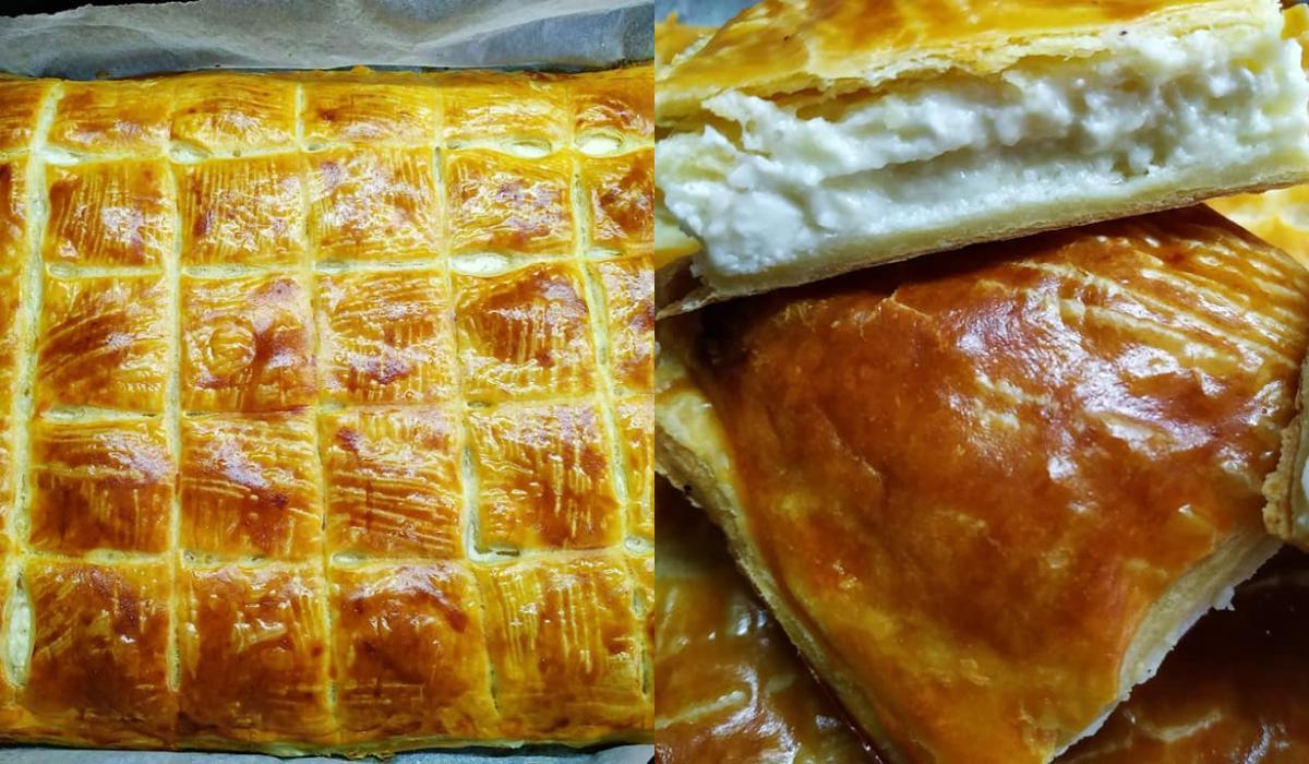 Τυρόπιτα με φύλλο σφολιάτας και μπεσαμέλ