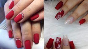 Κόκκινα νύχια : Ιδέες  για τον Δεκέμβρη 2020