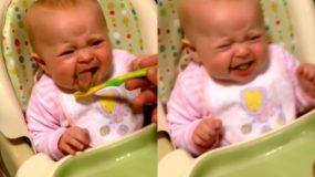 Ξεκαρδιστικό: Παιδί λέει δοκιμάζει για πρώτη φορά λαχανικά & λέει την πρώτη του λέξη