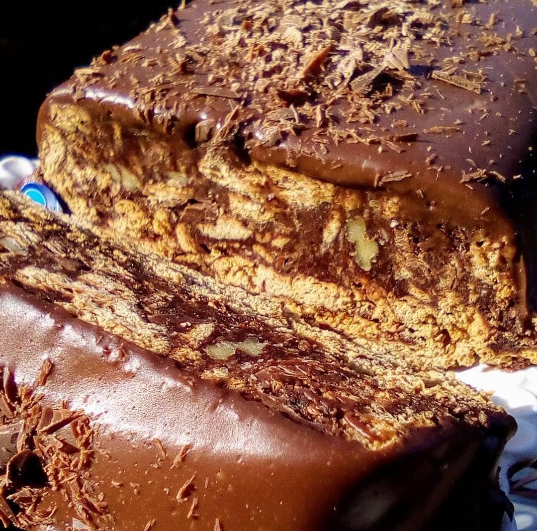 Κορμός μπισκότου με γκανάζ σοκολάτας