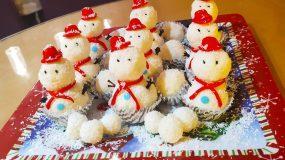 Χριστουγεννιάτικο κέρασμα με σχήμα χιονάνθρωπου
