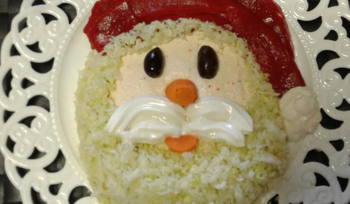 Γιορτινή σαλάτα Άγιος Βασίλης για το γιορτινό τραπέζι