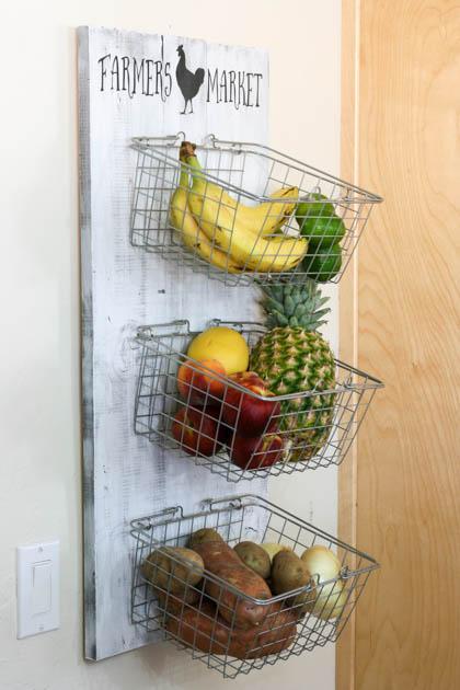 Φθηνό διακοσμητικό για το σπίτι με καλαθάκια για τα φρούτα και τα λαχανικά