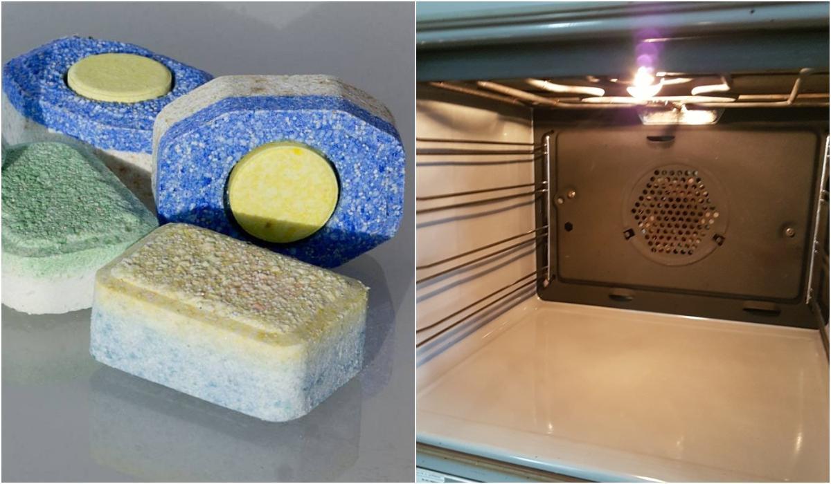 Καθαρίστε τον φούρνο σας με ταμπλέτα πλυντηρίου πιάτων – Το απολυτο clean tip για τον φούρνο