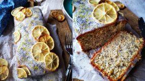Lemon Cake με Αριάνι, παπαρουνόσπορο, μοσχοκάρυδο & γλάσο λεμονιού