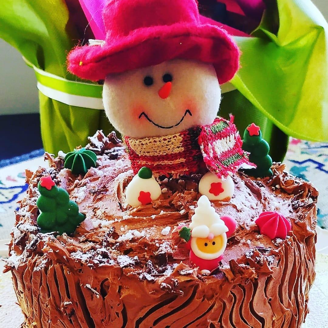 Γιορτινός κορμός σοκολάτας της Γκόλφως (βίντεο)