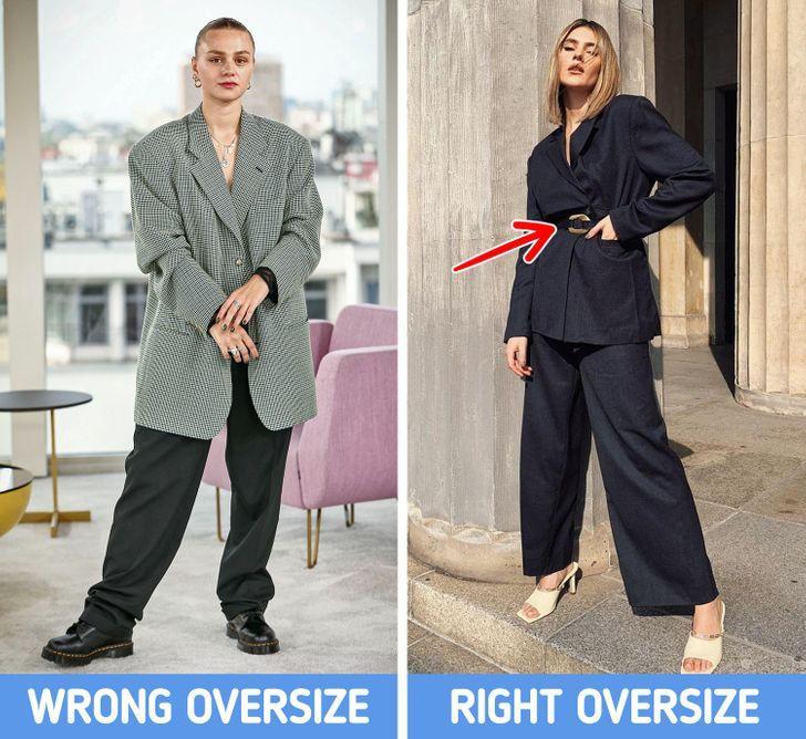 γυναίκες ντυμένες oversized