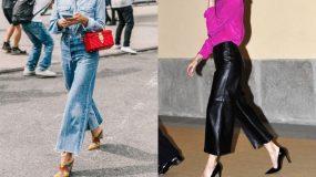Wide leg παντελόνια & jeans: Δες 14 μοντέρνες ιδέες για να τα συνδυάσεις
