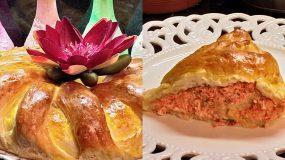 Αφράτο τυρόψωμο με κόκκινη πιπεριά, ανθότυρο, τσένταρ και τυρί Φιλαδέλφεια