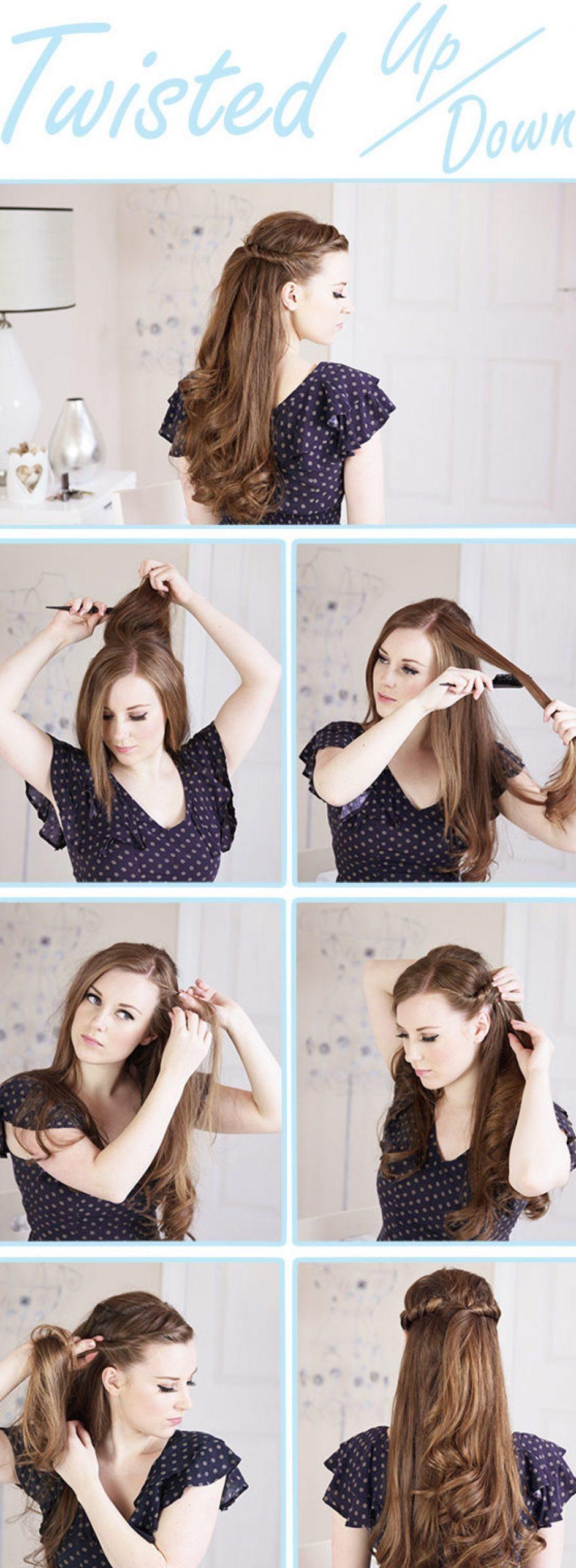 Χτένισμα στα μαλλιά μισά πάνω μισά κάτω για την Πρωτοχρονιά
